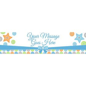 Cute as a Button Boy Personalized Banner (Each)