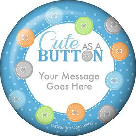 Cute as a Button Boy Personalized Magnet (Each)