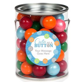Cute as a Button Boy Personalized Paint Cans (6 Pack)