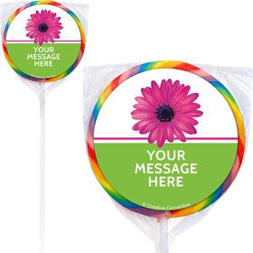 Daisy Power Personalized Lollipops (12 Pack)