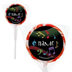 "Dancing Music Personalized 2"" Lollipops (20 Pack)"