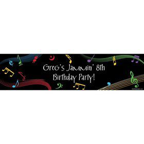 Dancing Music Personalized Banner (Each)