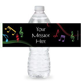 Dancing Music Personalized Bottle Labels (Sheet of 4)