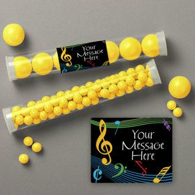 Dancing Music Personalized Candy Tubes (12 Count)