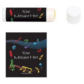 Dancing Music Personalized Lip Balm (12 Pack)