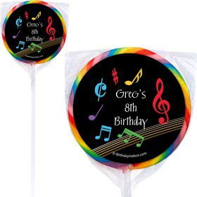 Dancing Music Personalized Lollipops (12 Count)