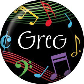 Dancing Music Personalized Mini Button (Each)