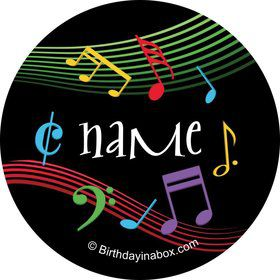 Dancing Music Personalized Mini Stickers (Sheet of 24)