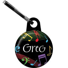 Dancing Music Personalized Zipper Pull (Each)
