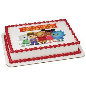 Daniel Tiger Neighborhood Friends Quarter Sheet Edible Cake Topper (Each)