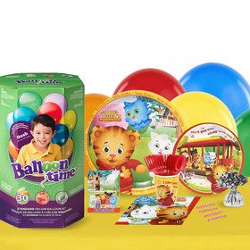 Daniel Tigers Neighborhood 16 Guest Party Pack and Helium Kit