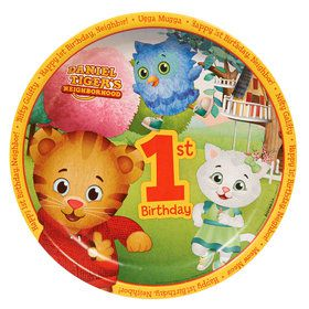 Daniel Tigers Neighborhood 1st Birthday Dinner Plates