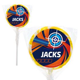 """Dart Game Personalized 2"""" Lollipops (20 Pack)"""