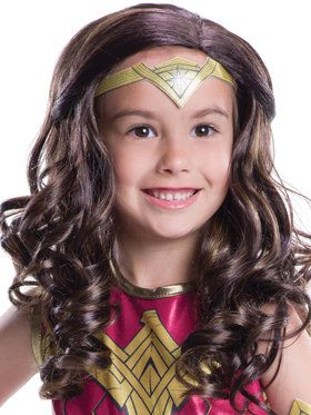 Dawn Of Justice Girls Wonder Woman Wig