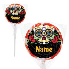 "Day of the Dead Personalized 2"" Lollipops (20 Pack)"