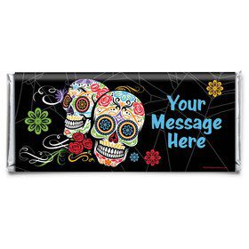 Day of the Dead Personalized Candy Bar Wrapper (Each)