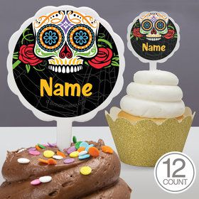 Day of the Dead Personalized Cupcake Picks (12 Count)