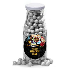Day of the Dead Personalized Glass Milk Bottles (12 Count)