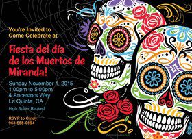 Day of the Dead Personalized Invitation (Each)
