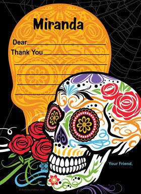 Day of the Dead Personalized Thank You (Each)