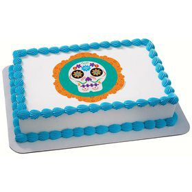 Day of the Dead Quarter Sheet Edible Cake Topper (Each)