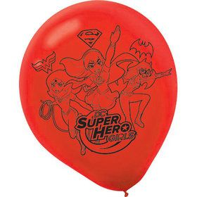 "DC Super Hero Girls 12"" Latex Balloons (6 Count)"