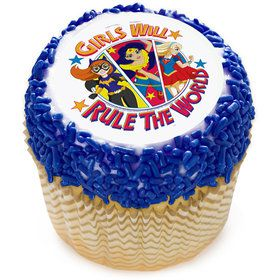 "DC Super Hero Girls 2"" Edible Cupcake Topper (12 Images)"