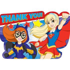 DC Super Hero Girls Postcard Thank You Notes (8 Count)