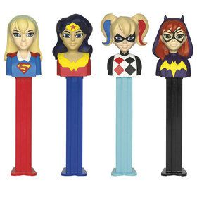 DC SuperHero Girls Pez Dispenser and Candy Set (Each)