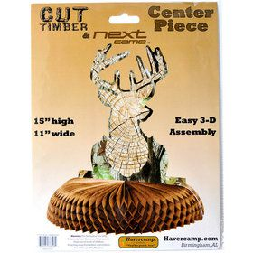 Deer Buck Centerpiece - Cut Timber Next Camo (1)
