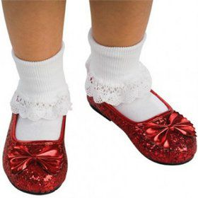 Deluxe Dorothy Red Glitter Shoes Child