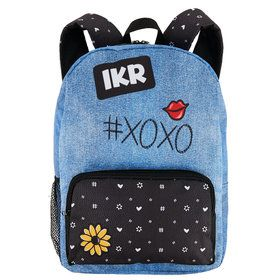 Denim Black Canvas Backpack