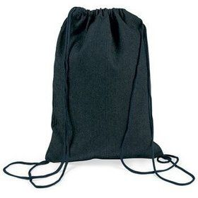 Denim Drawstring Backpack (12 Pack)