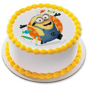 "Despicable Me Let's Party 7.5"" Round Edible Cake Topper (Each)"