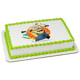 Despicable Me Let's Party Quarter Sheet Edible Cake Topper (Each)