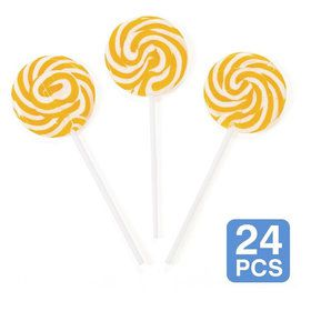 "Gold Swirl 2"" Lollipops (24 Pack)"