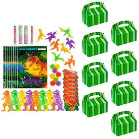Dinosaur Adventure Filled Favor Box Kit (For 8 Guests)