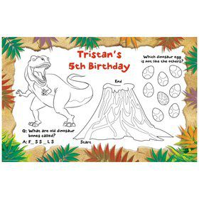 Dinosaur Adventure Personalized Activity Mats (8-Pack)
