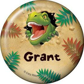 Dinosaur Adventure Personalized Button (each)