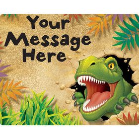 Dinosaur Adventure Personalized Rectangular Stickers (Sheet of 15)
