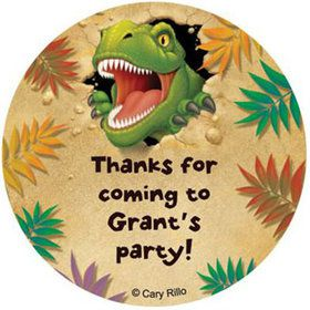 Dinosaur Adventure Personalized Stickers (sheet of 12)