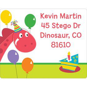 Dinosaur Birthday Personalized Address Label