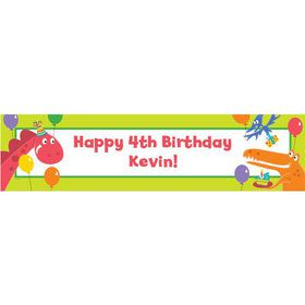 Dinosaur Birthday Personalized Banner (each)