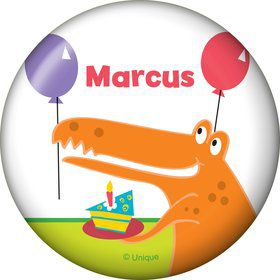 Dinosaur Birthday Personalized Button (each)