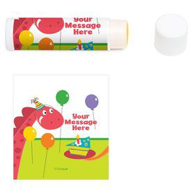 Dinosaur Birthday Personalized Lip Balm (12 Pack)