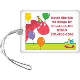 Dinosaur Birthday Personalized Luggage Tag (each)
