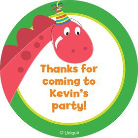 Dinosaur Birthday Personalized Sticker
