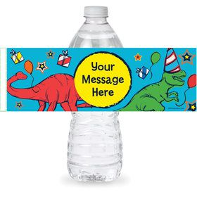 Dinosaur Fun Personalized Bottle Label (Sheet of 4)