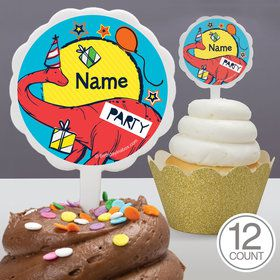 Dinosaur Fun Personalized Cupcake Picks (12 Count)