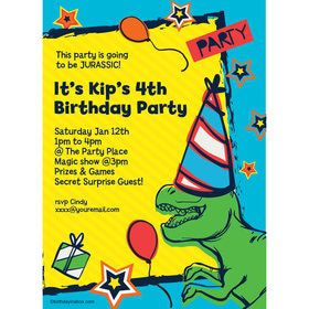 Dinosaur Fun Personalized Invitation (Each)